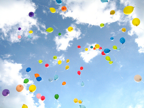 Happiness and balloons